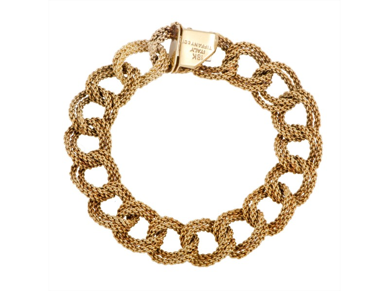 Tiffany & Co. 18K Yellow Gold Large Link Bracelet