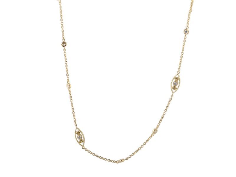 Odelia 18K Yellow Gold with 1.50ctw Diamond Long Sautoir Necklace
