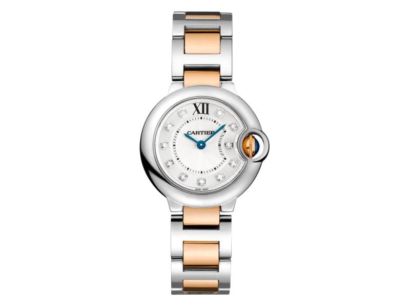 Cartier Ballon Bleu WE902030 Stainless Steel & Rose Gold Watch
