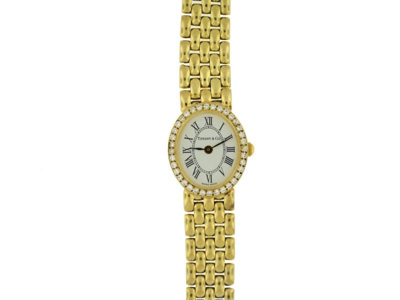 Tiffany & Co. Vintage 14K Yellow Gold Diamond Ladies Watch