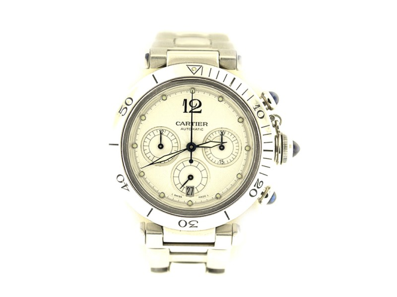 Cartier Pasha Seatimer Chronograph Steel 38mm Watch