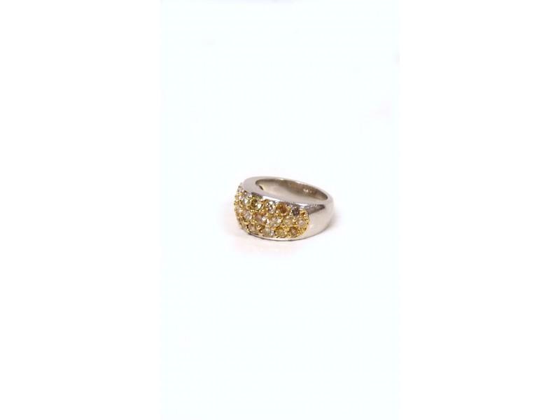 Platinum Champagne Diamond Ring