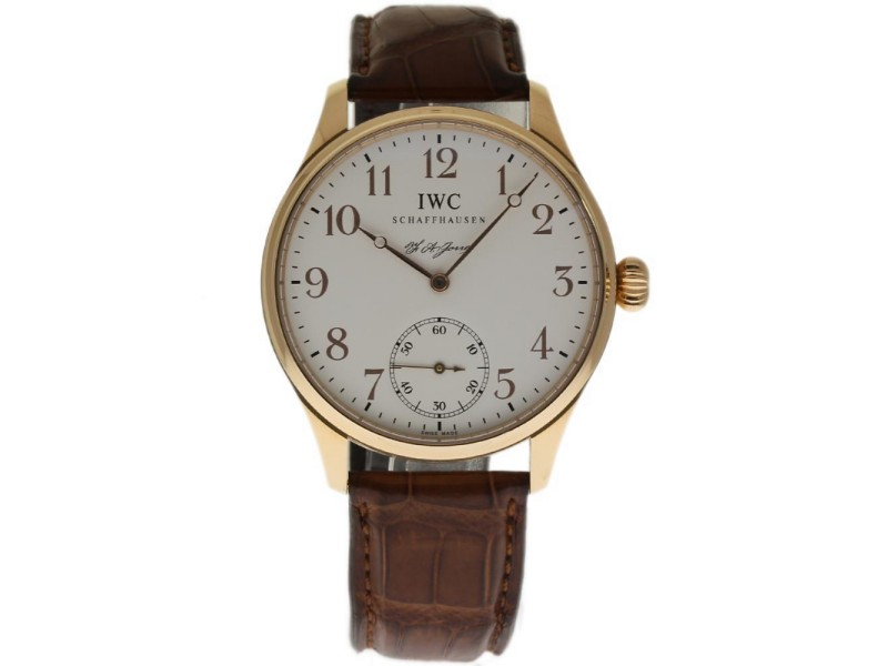 IWC Portuguese IW544201 18K Rose Gold & Leather 43mm Mens Watch