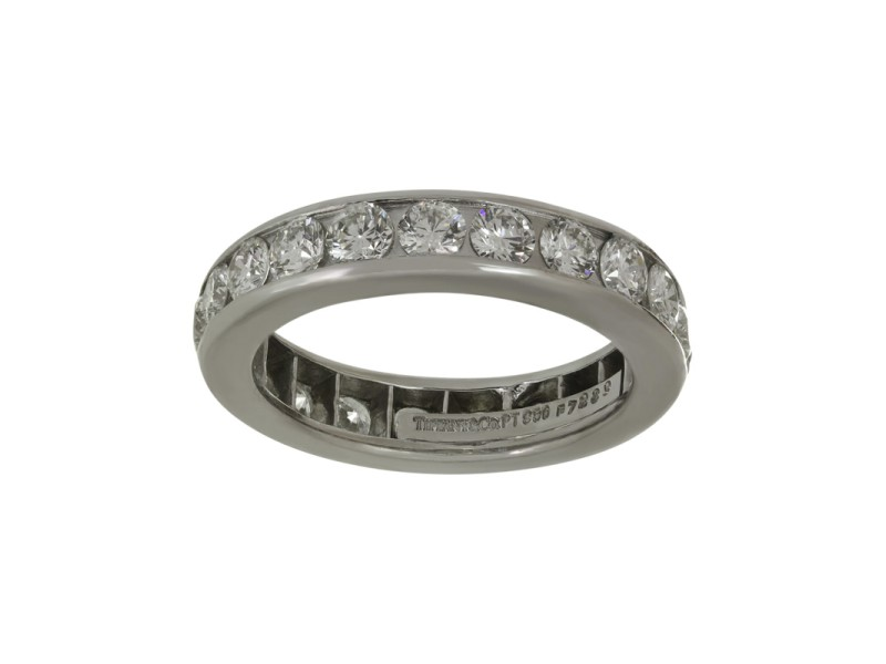 Tiffany & Co. 1.85ctw. Diamond Platinum Band Ring Size 6