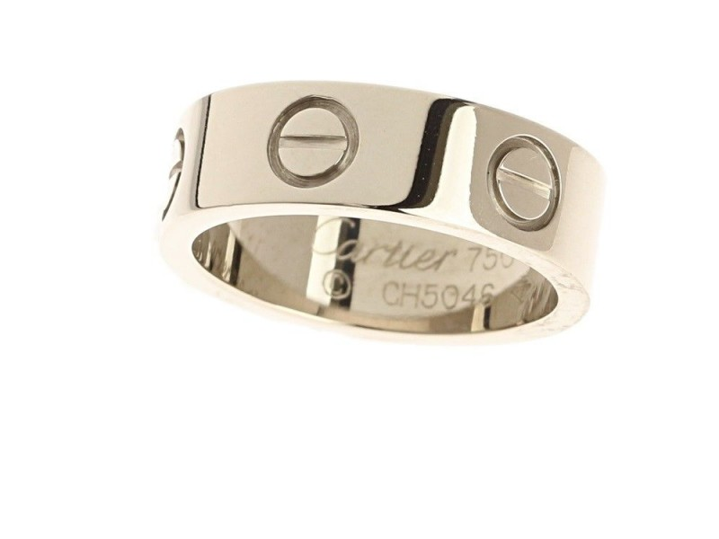 Cartier Love 18K White Gold Ring Size 4
