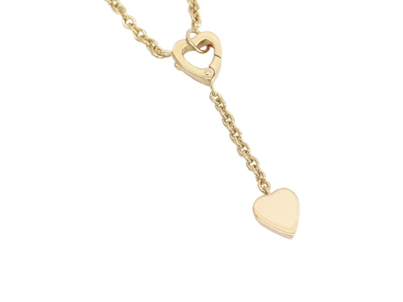 Cartier Mon Amour Swing Heart Pendant Necklace 18K Rose Gold