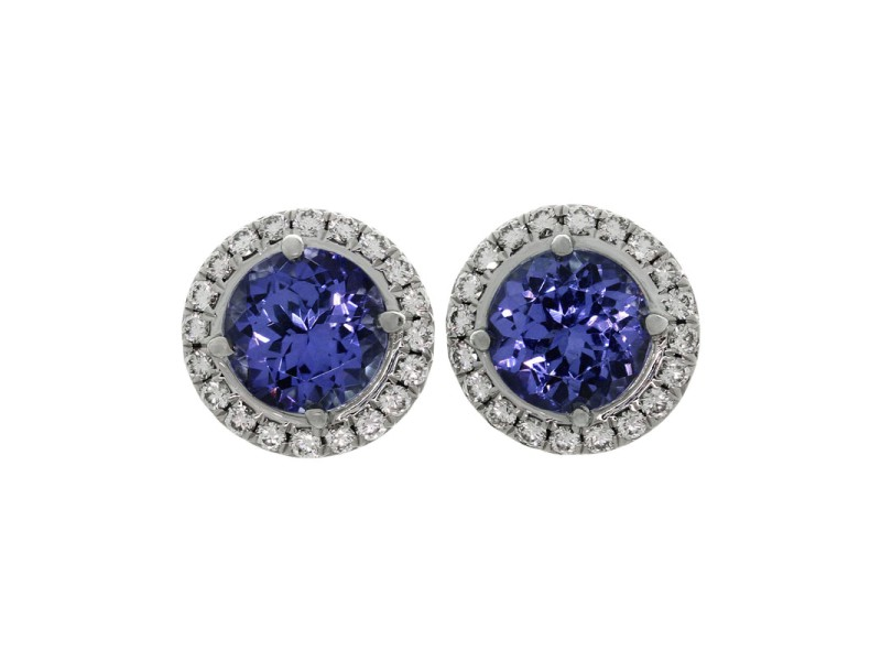 Tiffany & Co. Soleste 950 Platinum Tanzanite & Diamond Earrings