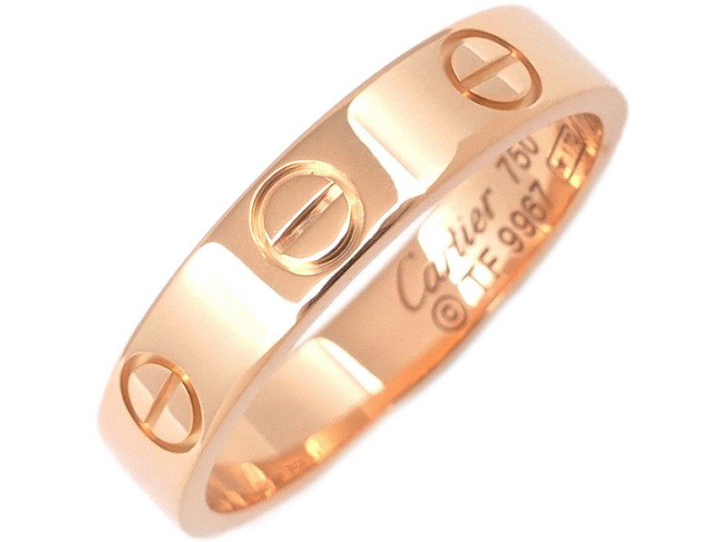 Cartier Mini Love Ring 18K Rose Gold Size 4.5