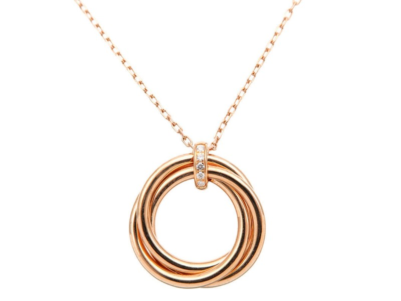 Cartier Trinity Necklace 18K Tri-Gold & Diamond