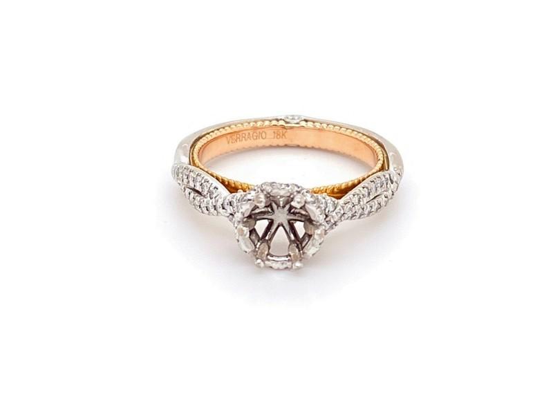 Verragio Couture Semi Mount 0440-TT 18kt White and Rose Gold