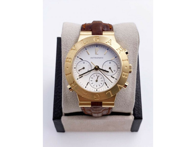 Bulgari Diagono Rattrapante CH 40 GL Split Second 18K Gold Chronograph