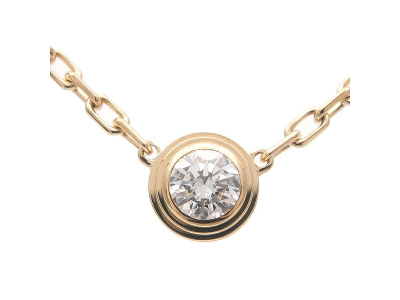 Cartier Diamants Légers Necklace Yellow Gold .09ct Diamond