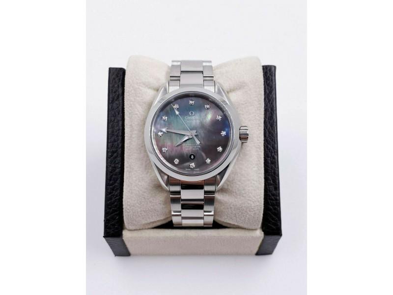 Omega 231.10.34.20.57.001 Seamaster Aqua Terra MOP Diamond Dial Stainless Steel