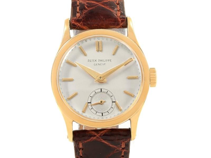 Patek Philippe Calatrava 18459 Vintage 30mm Mens Watch