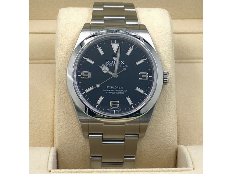 Rolex Explorer 214270 Black Dial 39mm Stainless Steel with Box