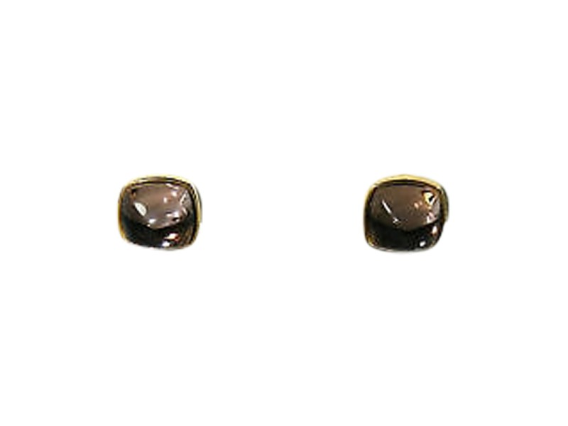 Baccarat 18K Gold Medicis Mordore Clear Clip-on Earrings