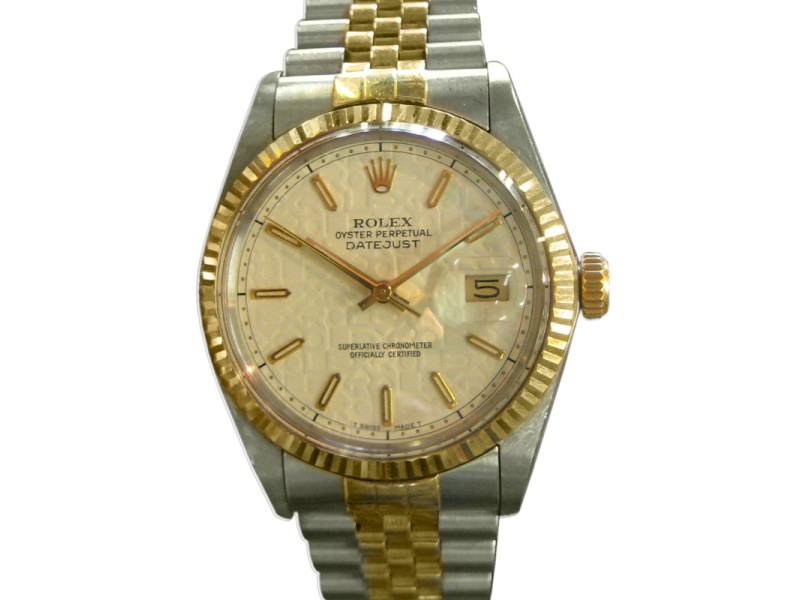 Rolex Oyster Perpetual Datejust Yellow Gold Stainless Steel Jubilee Dial Watch