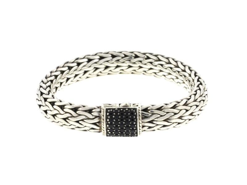 John Hardy Black Sapphire Sterling Silver Bracelet