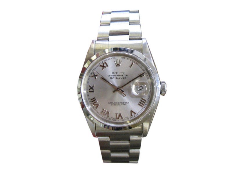 Rolex Datejust Silver Dial Stainless Steel 36mm Watch
