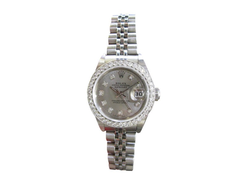 Rolex Oyster Perpetual Datejust Stainless Steel and Diamond 25mm Watch
