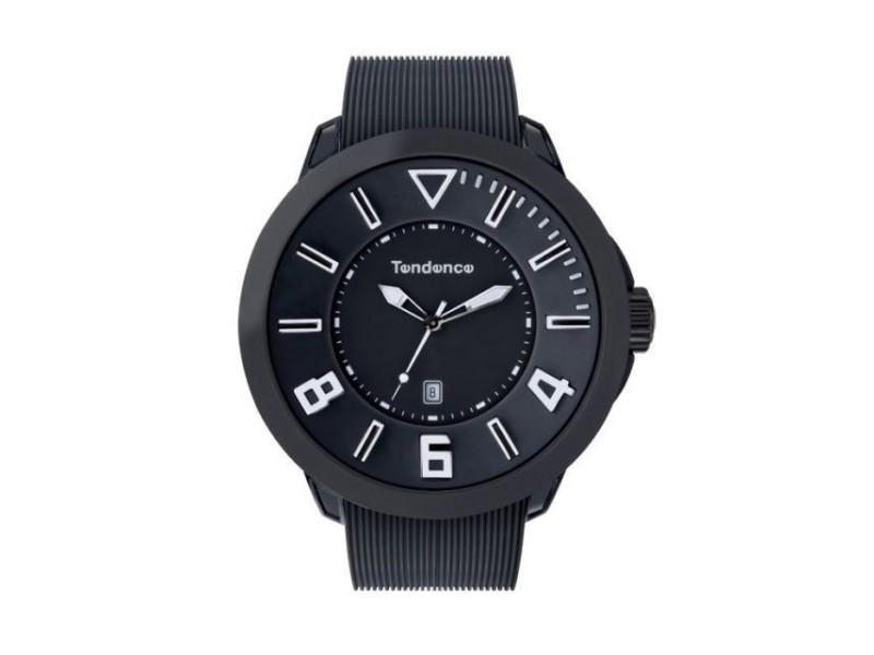 Tendence TT530002 Black Rubber Band Quartz Mens Watch