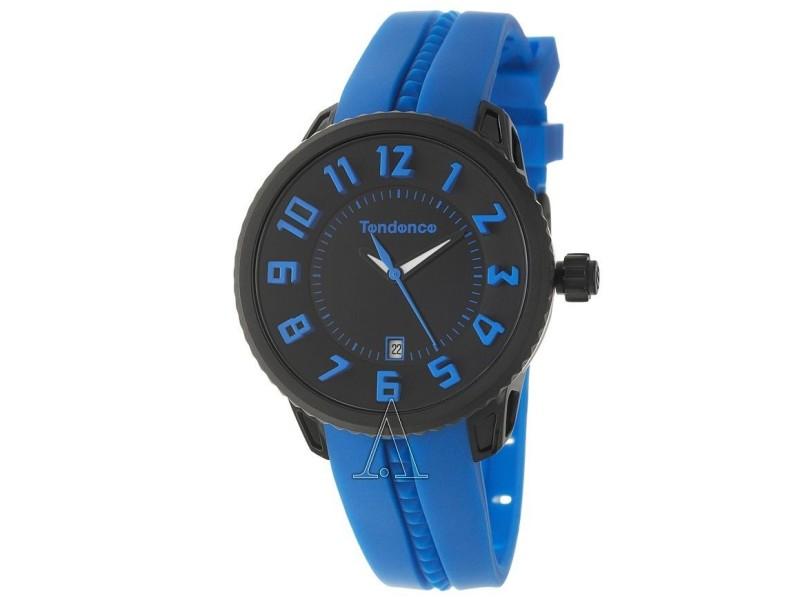 Tendence T0930023 Black & Blue Rubber Band Quartz Unisex Watch