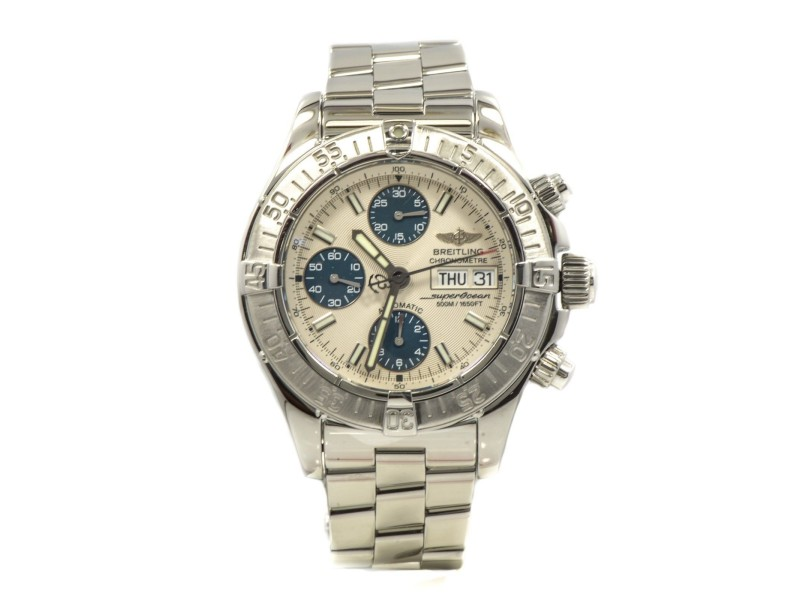 Breitling A13360 Super Ocean Stainless Steel Automatic Mens Watch