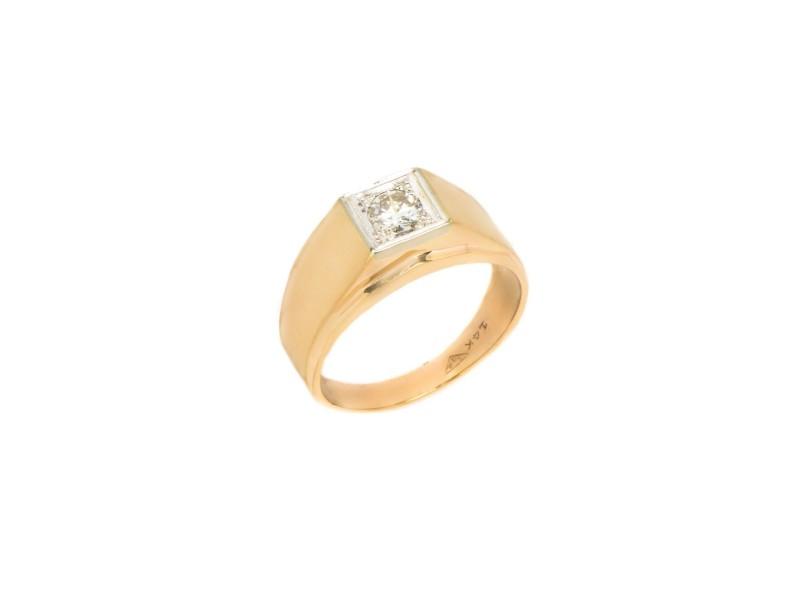 14K Yellow Gold Mens Ring