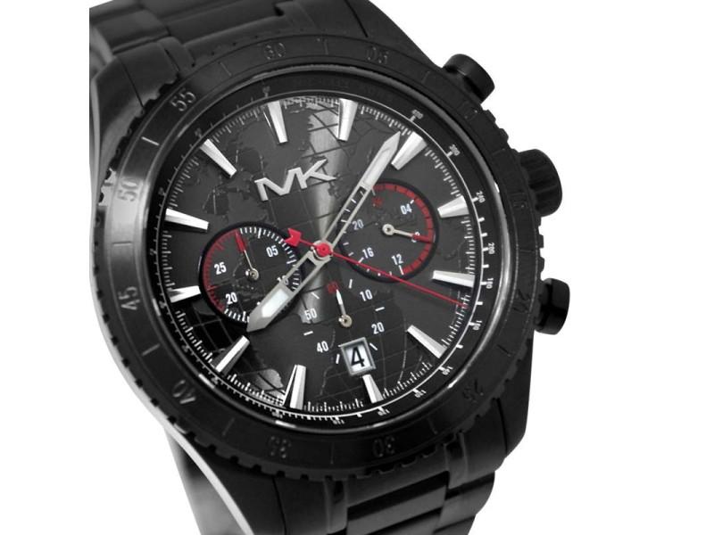 Michael Kors MK8352 Chronograph Black Stainless Steel Analog Quartz Mens Watch