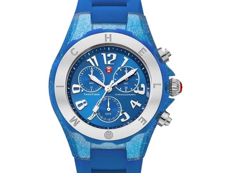 Michele MWW12F000074 Tahitian Jelly Bean Blue Watch