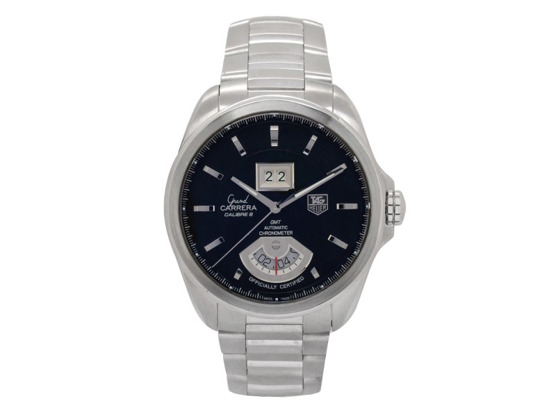 Tag Heuer Grand Carrera WAV5111 Stainless Steel Black Dial Automatic 42mm Mens Watch