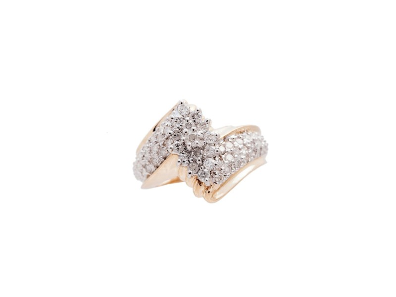 14K Yellow Gold 0.83Ct I P1 Diamond Ring  7.1 Gr Size 7