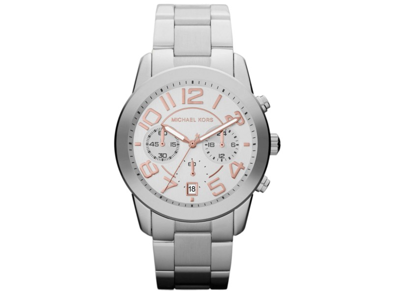 Michael Kors MK5725 Mercer Stainless Steel Silver Dial Quartz 42mm Women's Watch