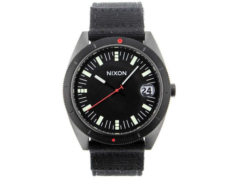 Nixon Rover A355 001 Black Dial Black Fabric Strap 42mm Mens Watch
