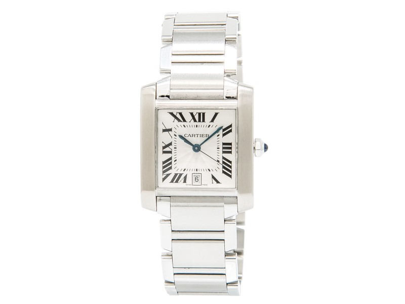 f543b809fea51 Cartier Tank Francaise 2302 Stainless Steel Silver Dial Automatic 28mm  Unisex Watch