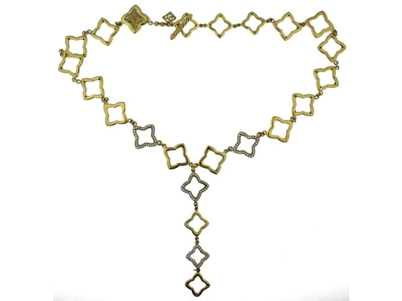 David Yurman 18K Yellow Gold Diamond Necklace