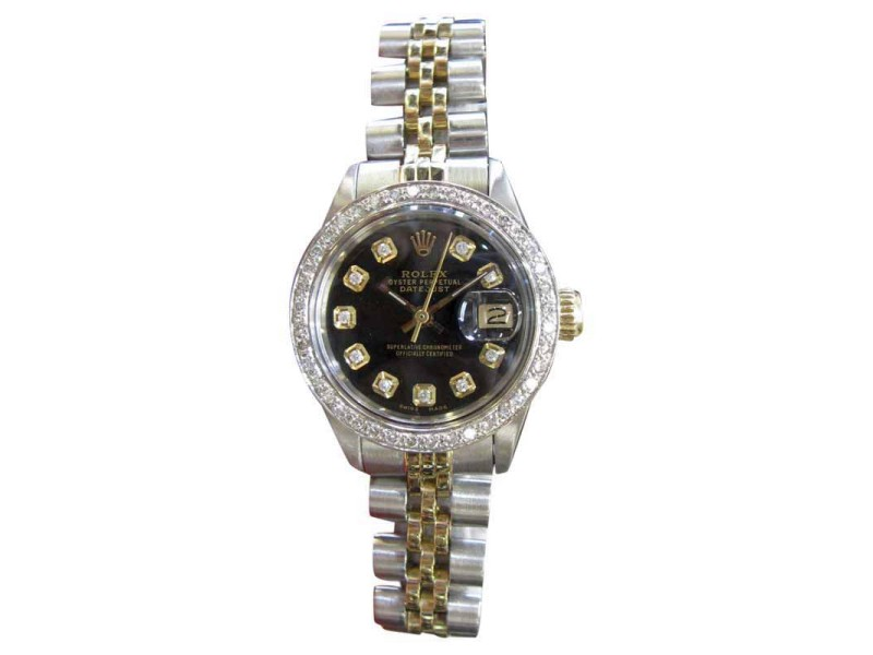 Rolex Oyster Perpetual Datejust 69173 25mm Womens Watch