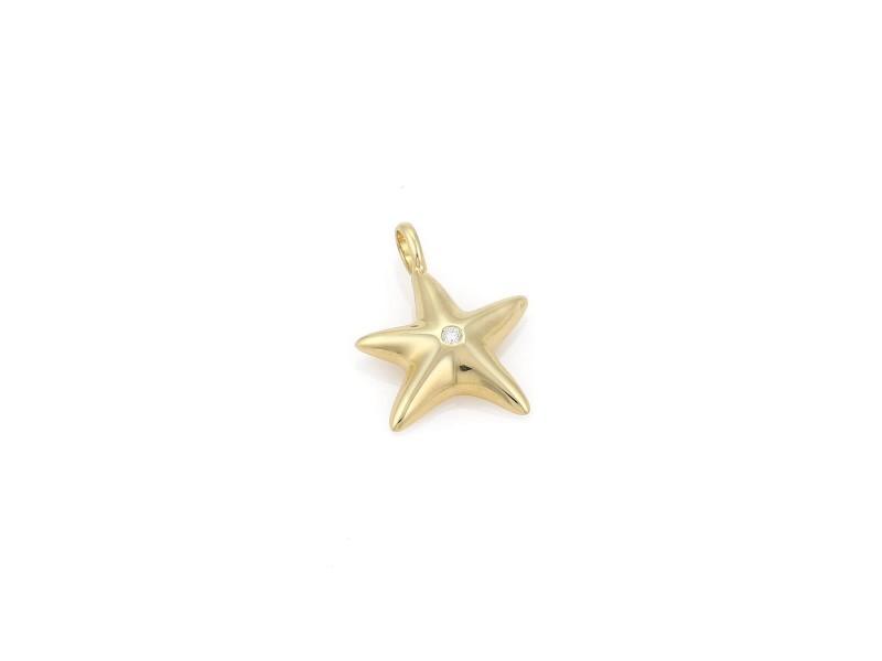Tiffany & Co. 192668296801-E 18K Yellow Gold Diamond Pendant
