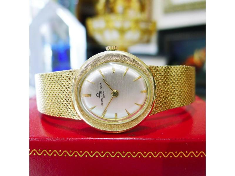 Ladies BAUME & MERCIER 14K Yellow Gold Ellipse Dress Watch