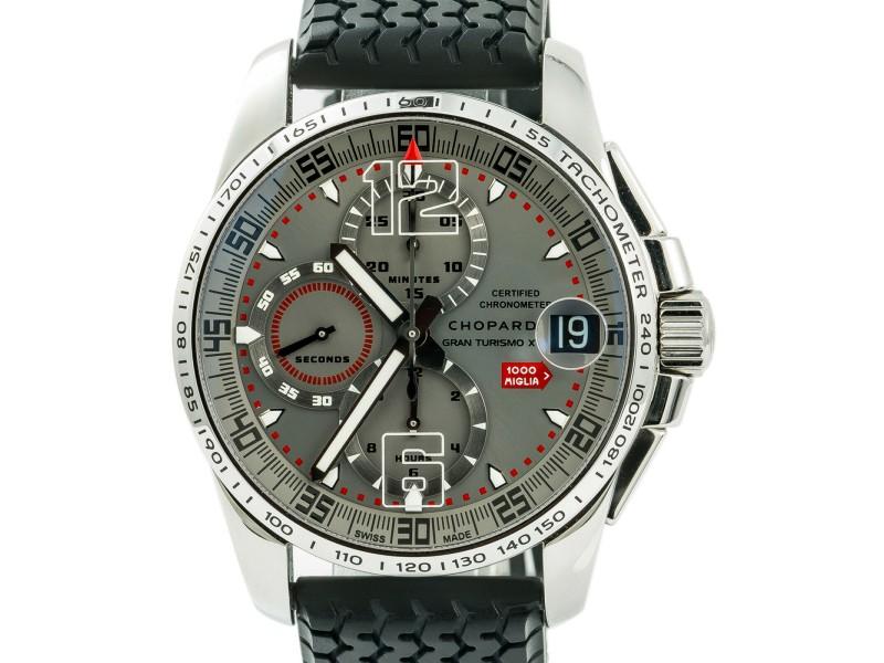 Chopard Mille Miglia 8489 Unworn Mens Automatic Watch Chronograph Grey Dial 44mm