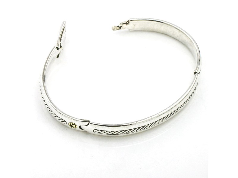 David Yurman Men's Cable Bangle Bracelet with Gold XL