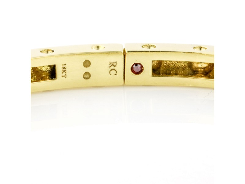 Roberto Coin 18k Yellow Gold Pois Moi Bangle Bracelet