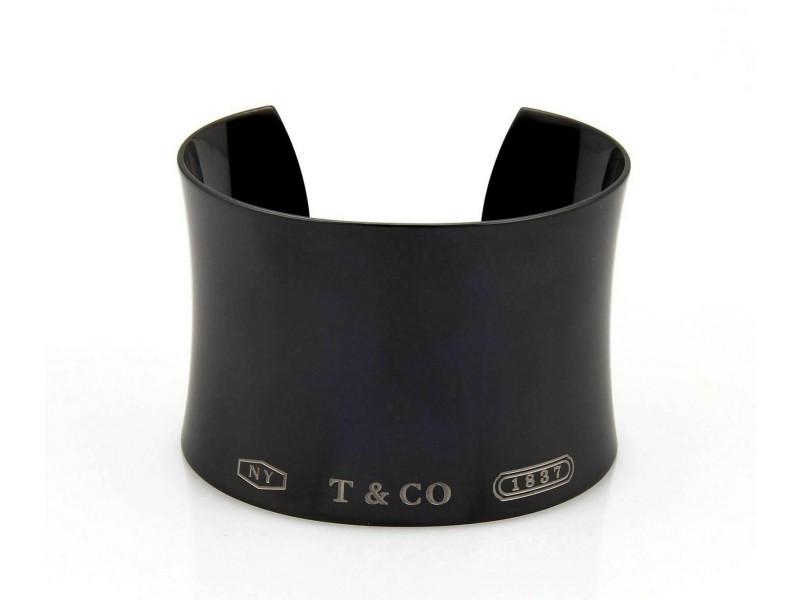 "Tiffany & Co. 1837 Collection Titanium 1.80"" Wide Concave Cuff Bracelet"