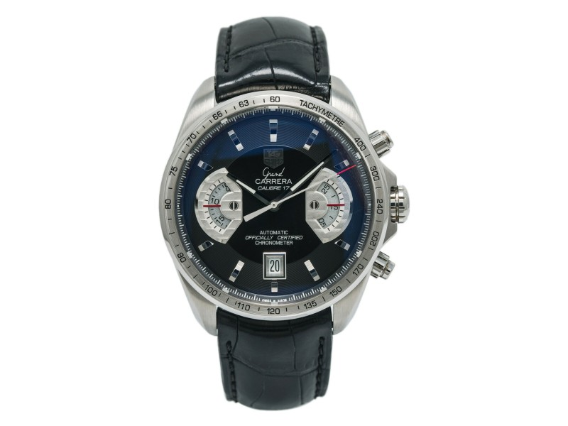 Tag Heuer Grand Carrera CAV511A Men's Automatic Chronograph Steel Watch 43mm