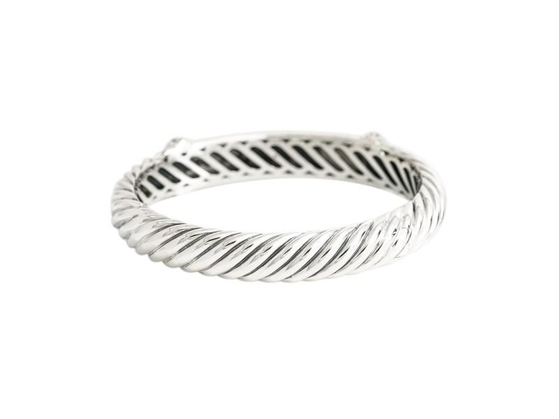 """David Yurman 925 Sterling Silver Bracelet 0.54Ct Diamonds 37.3 Grams Size 6"""""""