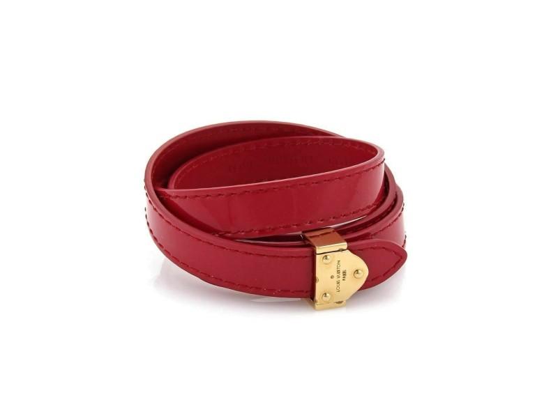 Louis Vuitton Vernis Shiny Pink Multi Wrap Bracelet