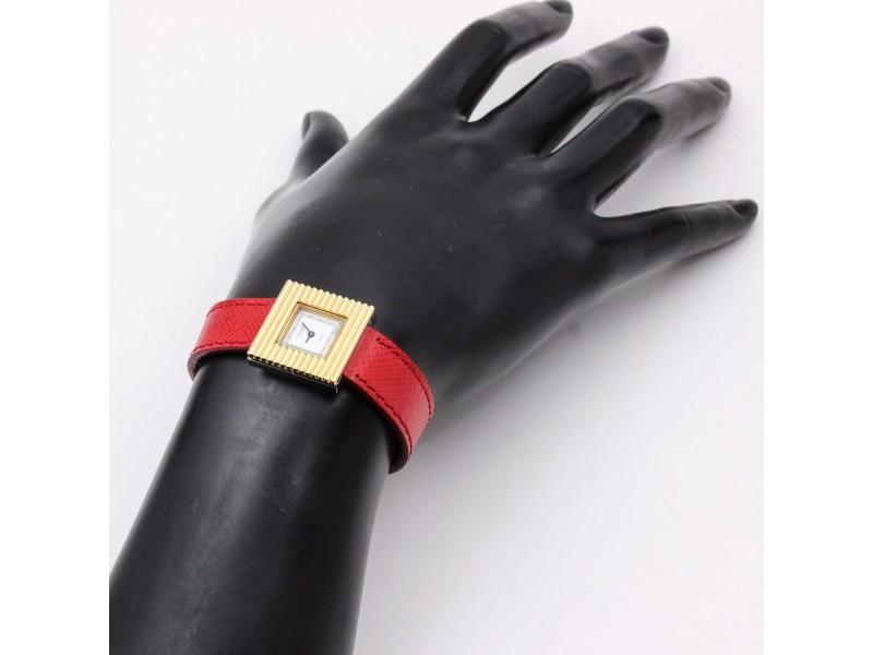 Van Cleef & Arpels Retro Ladies Stainless Steel Gold Quartz Watch