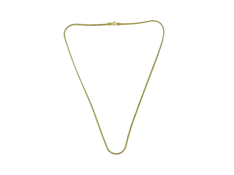 "Auth John Hardy 18K Yellow Gold Reversible Classic Chain Necklace Size 24"" $4200"