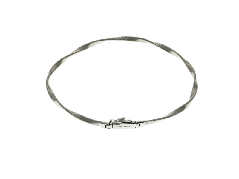 """Marco Bicego Marrakech Collection 18k White Gold Stackable Bracelet Size 7"""""""