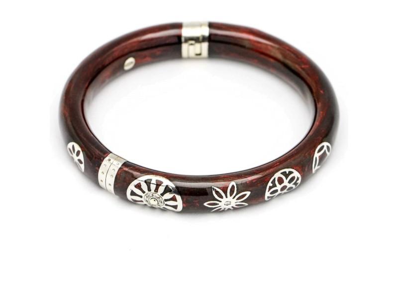 La Nouvelle Bague Enamel Bangle Bracelet in Sterling Silver